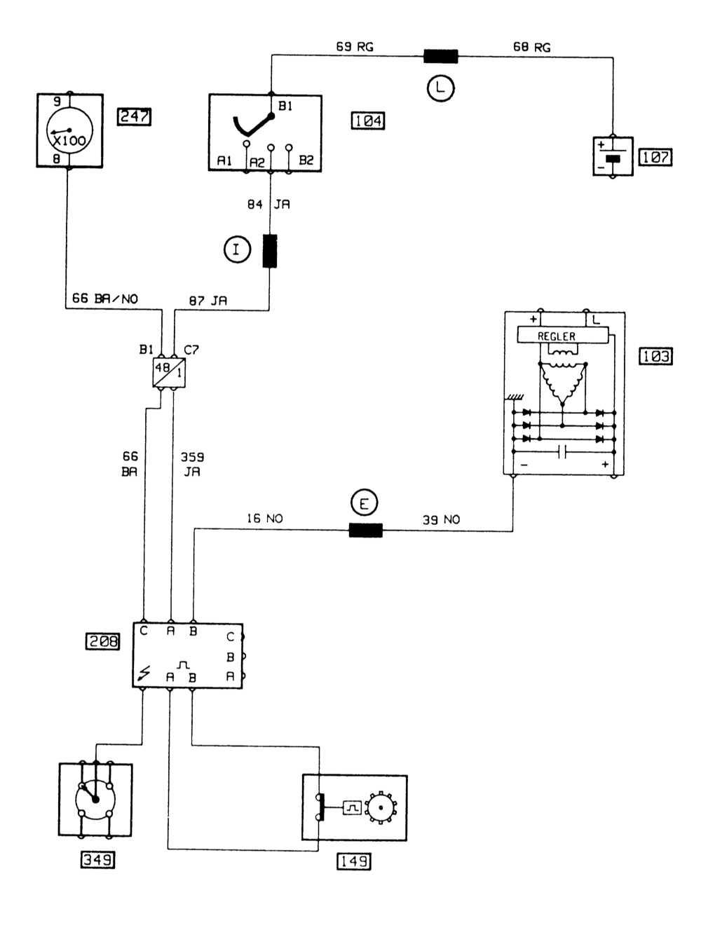 схема замка зажигания рено 21